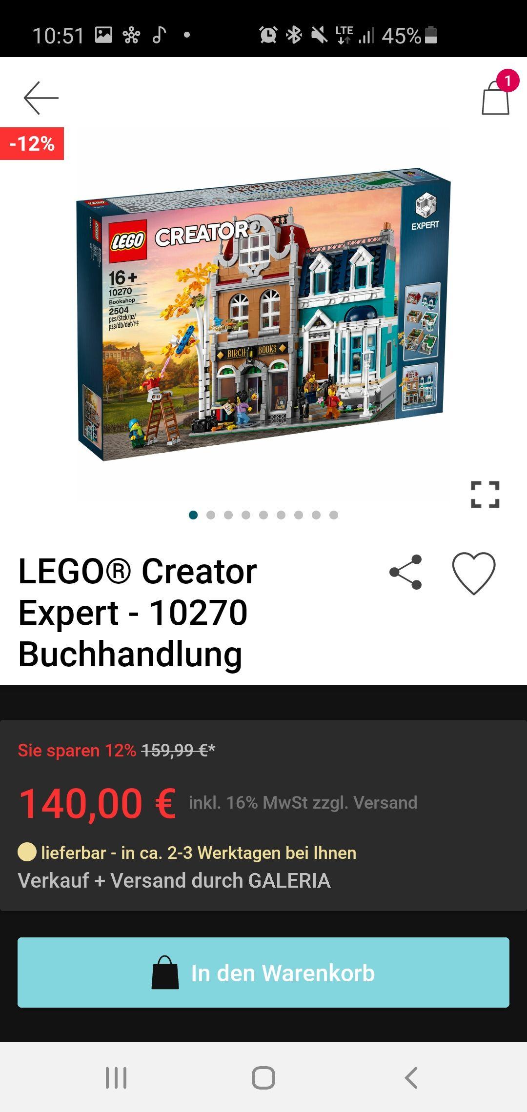 LEGO Creator Expert 10270 Buchhandlung