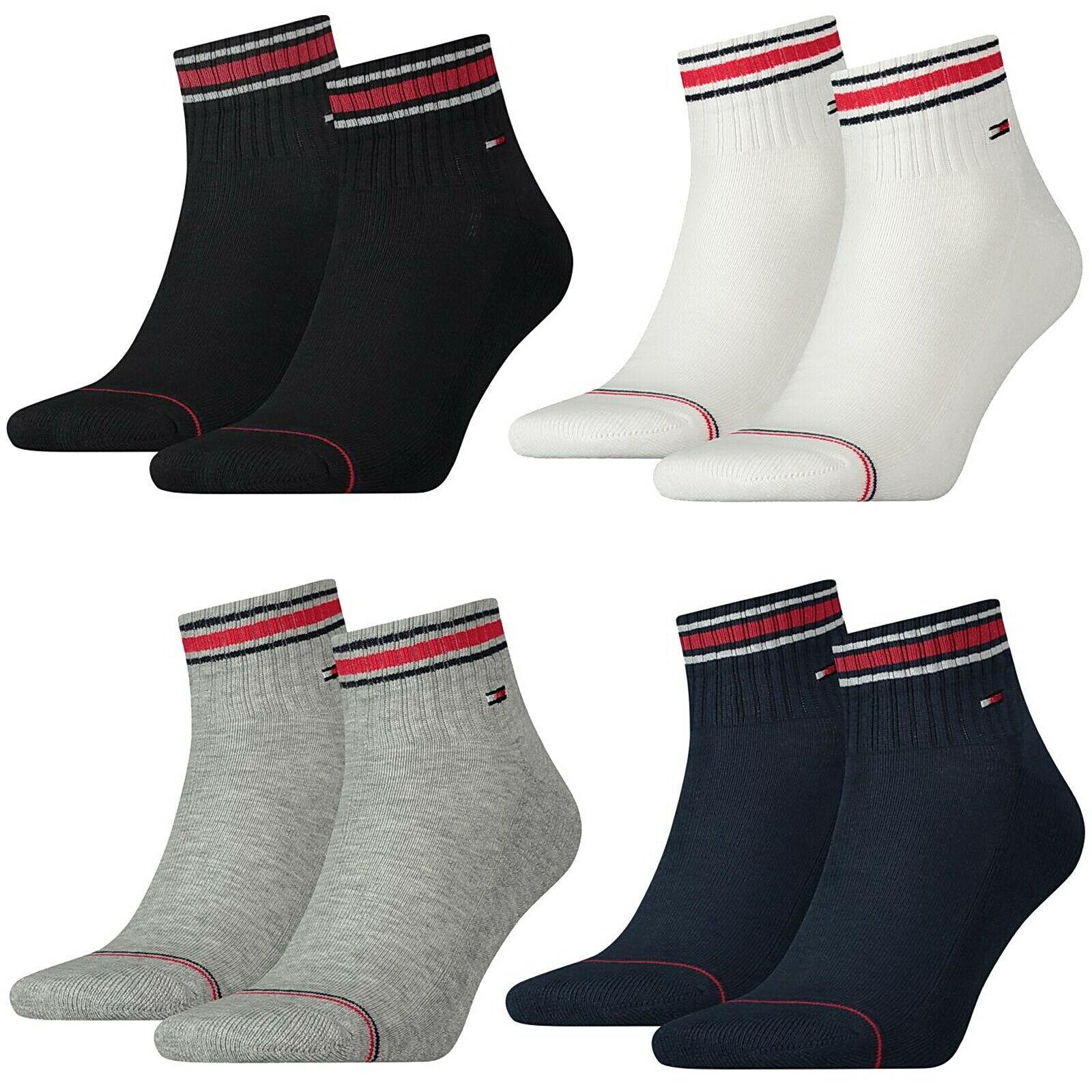8er Pack Tommy Hilfiger Iconic Socken Sneaker oder Quarter - unisex