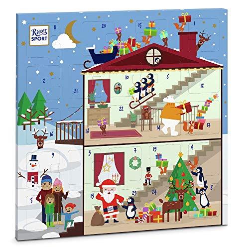 [Amazon Prime] Ritter Sport Quadrat-Adventskalender (347 g), fröhlich-bunter Weihnachtskalender, mit 18 minis und 6 Schokowürfeln