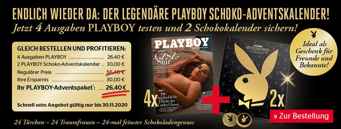 [PLAYBOY] 4 Ausgaben testen plus 2 legendäre 24 Türchen 24 Traumfrauen Schokoadventskalender