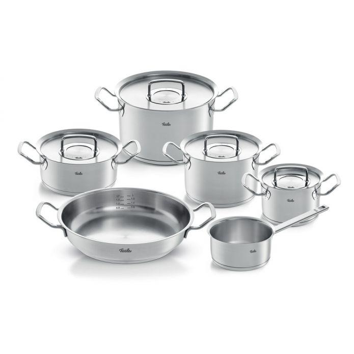 Fissler Topfset 6-tlg. PURE PROFI COLLECTION inklusive Servierpfanne und Stielkasserolle