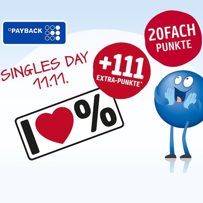 Payback Singles Day: 111 extra Punkte ab 11,11€ Einkauf bei jedem Online-Shop + 20fach Punkte bei dm / 11fach=Otto / 7fach=MediaMarkt/Saturn