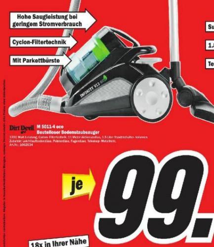 Dirt Devil M 5011-4 bei Mediamarkt Berlin für 99€