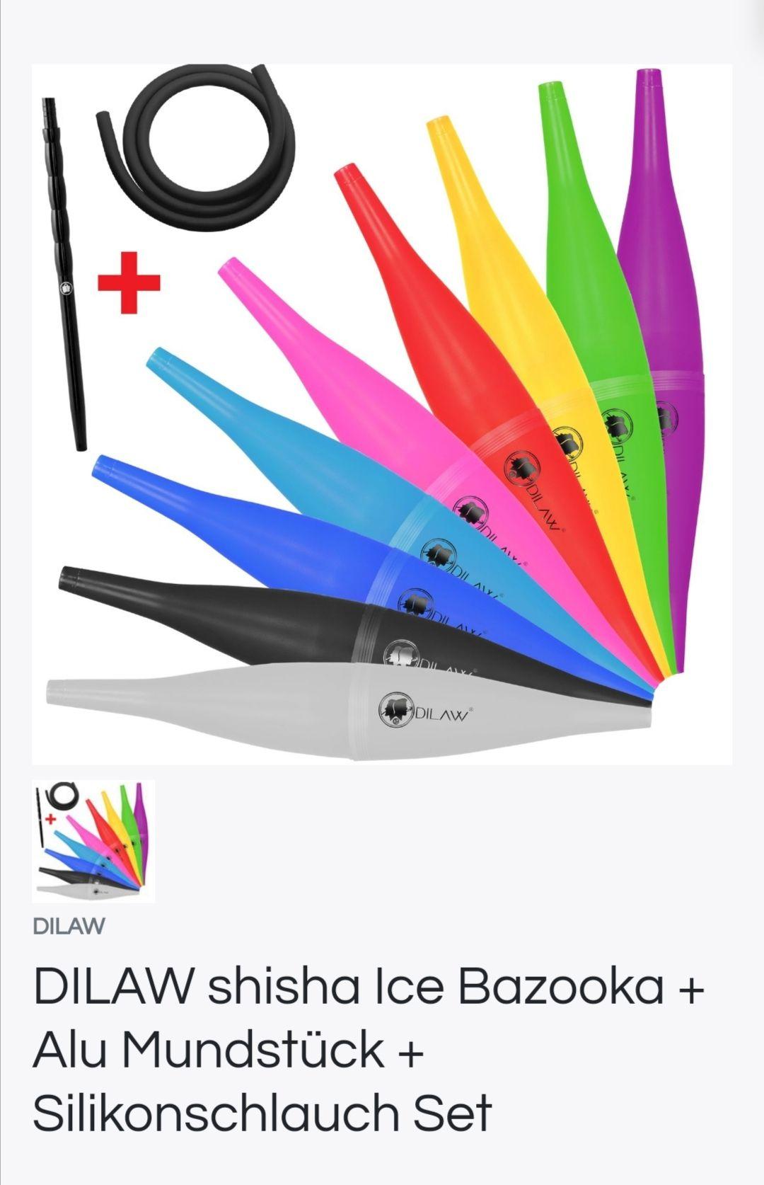 Dilaw Bazooka Set mit Mundstück, Schlauch und Bazooka ( Shisha ) mit gratis Versand