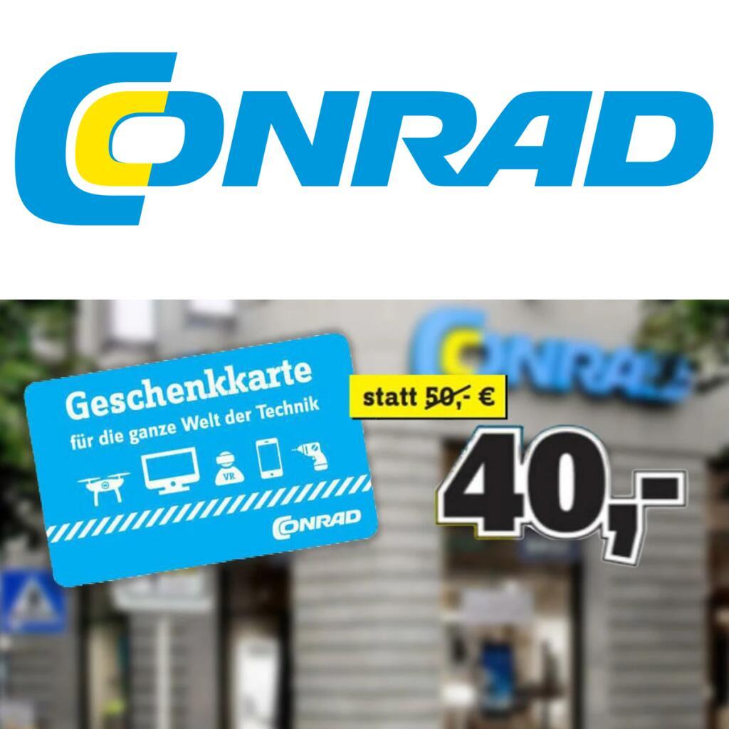 [Conrad Stuttgart] 50€ Conrad Geschenkkarte für 40€ am 07.11.