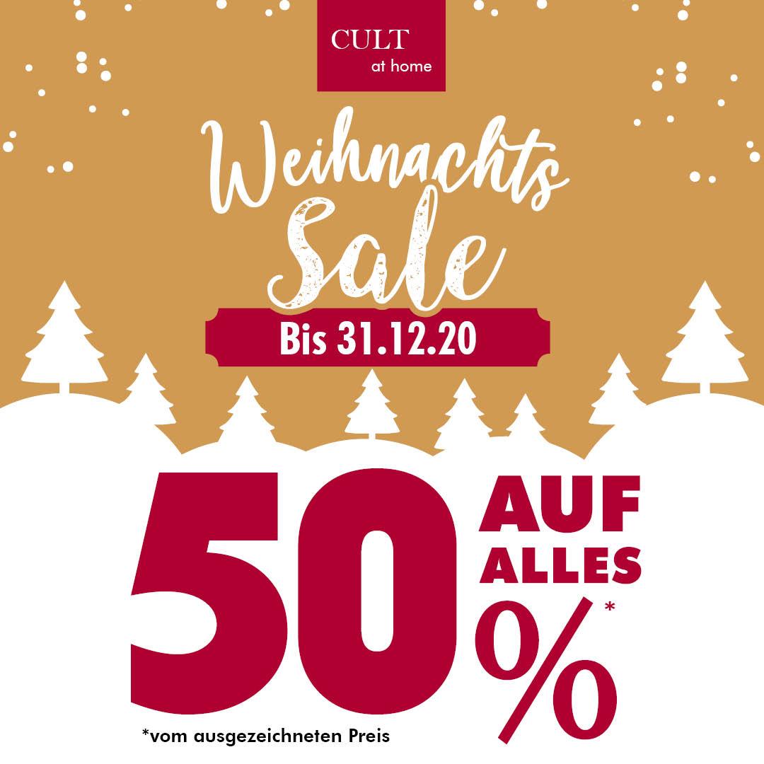 [Lokal Bocholt] Cult at Home Lagerverkauf Weihnachtssale 50% auf den ausgezeichneten Preis