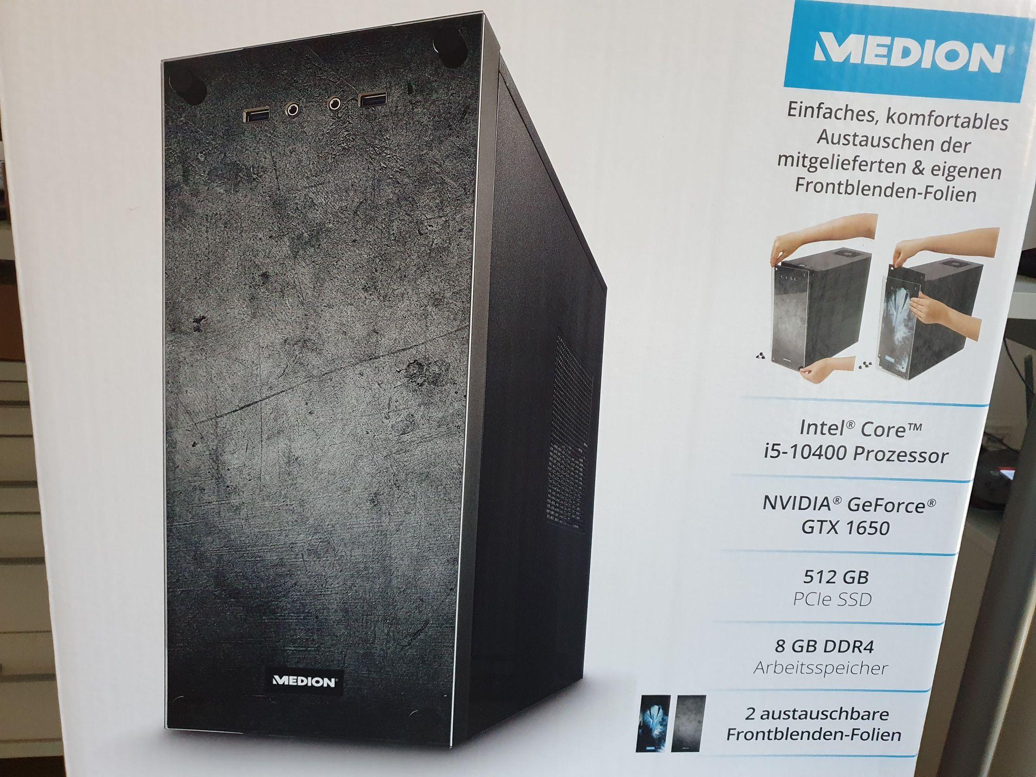 Altenessen Aldi: Medion-PC: i5-10400, GTX 1650, 512 GB SSD, 8 GB RAM für 400 Euro