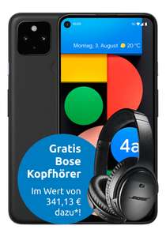 [UNIDAYS Young Gigakombi] Google Pixel 4a 5G mit Bose QC 35 ii (200€) im Young L (45GB 5G 500Mbit, VideoPass) mtl. 23,89€ einm. 39,90€