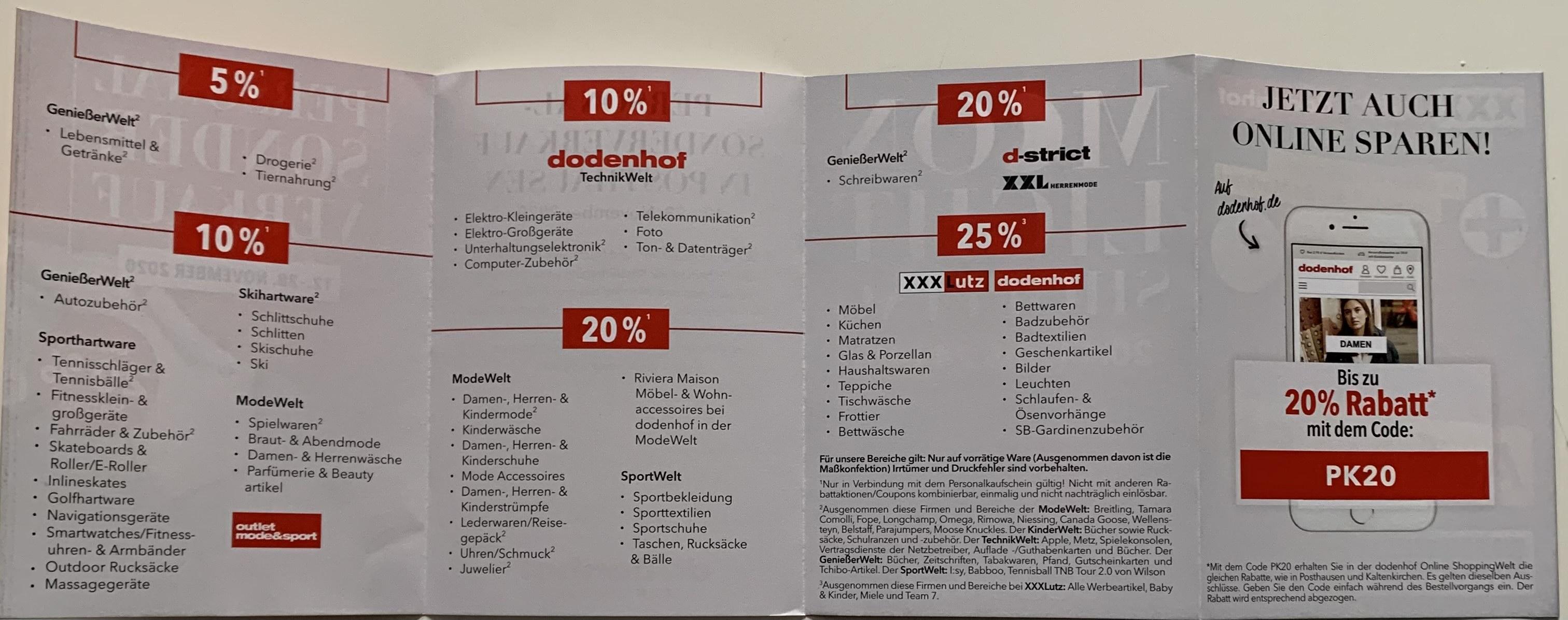 Dodenhof Personal Sonder Verkauf -20% Online
