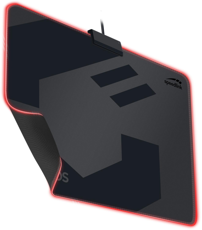 [B-Ware] Speedlink Orios LED Gaming Mousepad (8 Farbmodi, wasserabweisende Textiloberfläche, Gummierung, 1.4m USB-Kabel, 350x260x3mm, 219g)