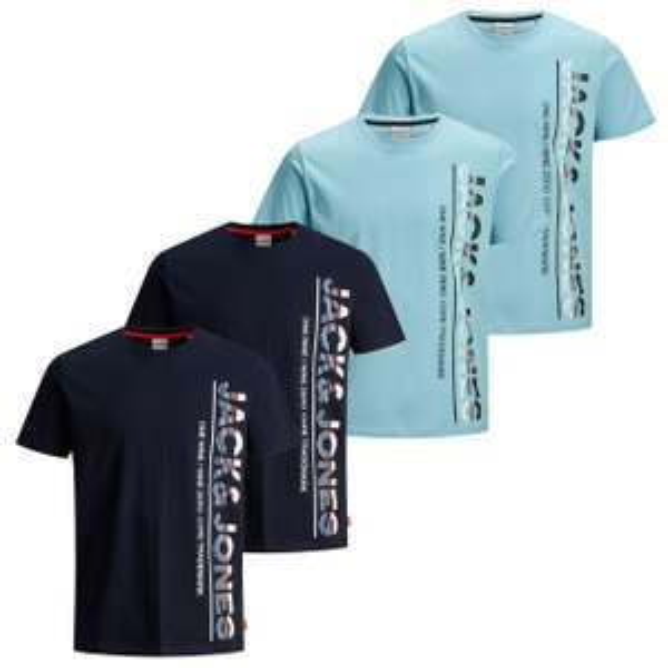[Jeans Direct] 4er-Packs T-Shirts versch. Marken, zB: Jack & Jones Größen S-L