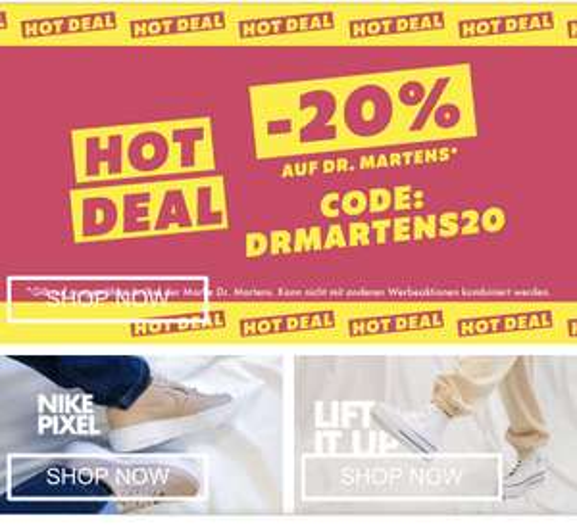 20% bei ONYGO auf Dr. martens Schuhe