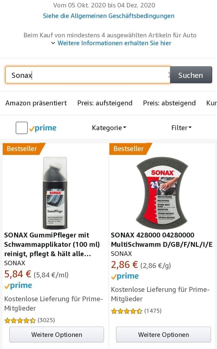 Sonax Angebote und 10% auf ausgewählte Produkte