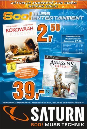 [Lokal Saturn Köln Hansaring] Kokowääh DVD für 2,50€        (z.B. als Valentinstagsgeschenk)