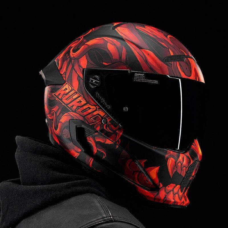 Ruroc Helme Black Friday Sale z.B. Atlas 2.0 Diablo - Motorradhelme/Skihelme/Snowboardhelme