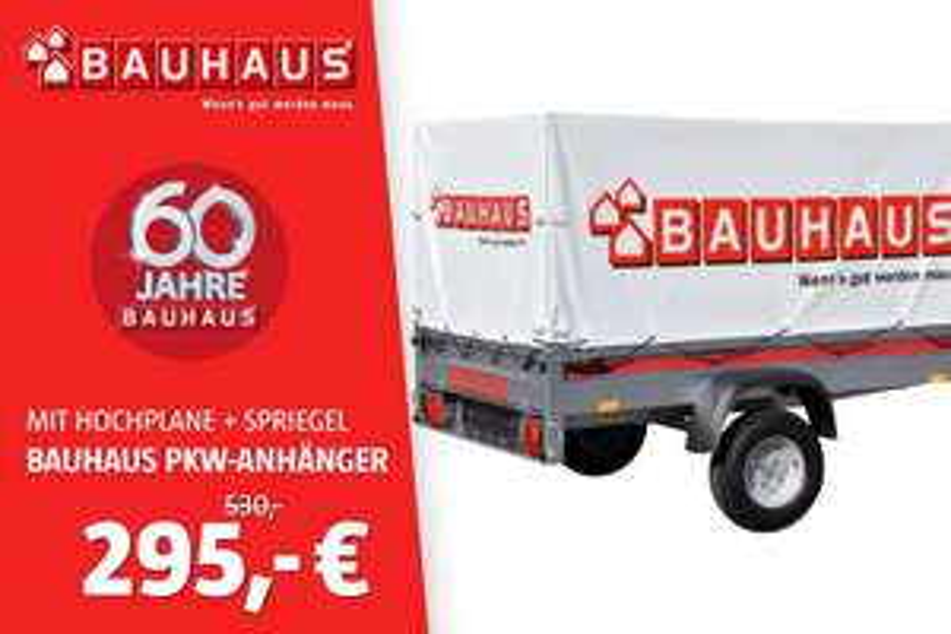 (Lokal Bauhaus Dresden) Stema PKW-Anhänger '7.5-20-12 R10' mit Hochplane und Spriegel