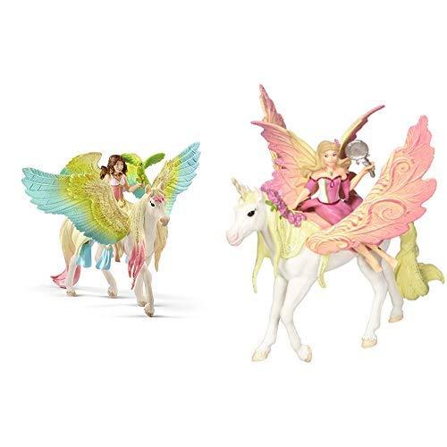 [PRIME] 2 für 1 - Schleich 70566 - Surah mit Glitzer-Pegasus & 70568 - Feya mit Pegasus-Einhorn