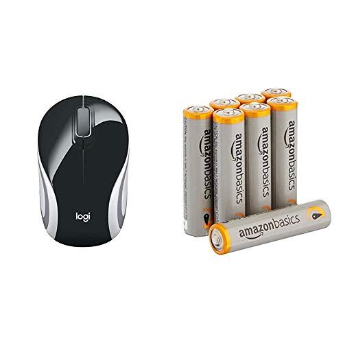 [Amazon Prime] LOGITECH M187 Wireless Mini Mouse Black - WER Occident Packaging & AmazonBasics Performance Batterien Alkali, AAA, 8 Stück