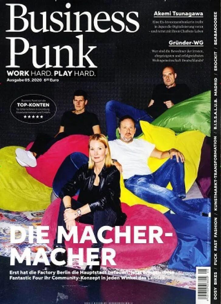 Business Punk Abo (6 Ausgaben) für 38,20 € mit 10 € BestChoice-Universalgutschein oder 15 € Otto/ Zalando Gutschein (Kein Werber nötig)