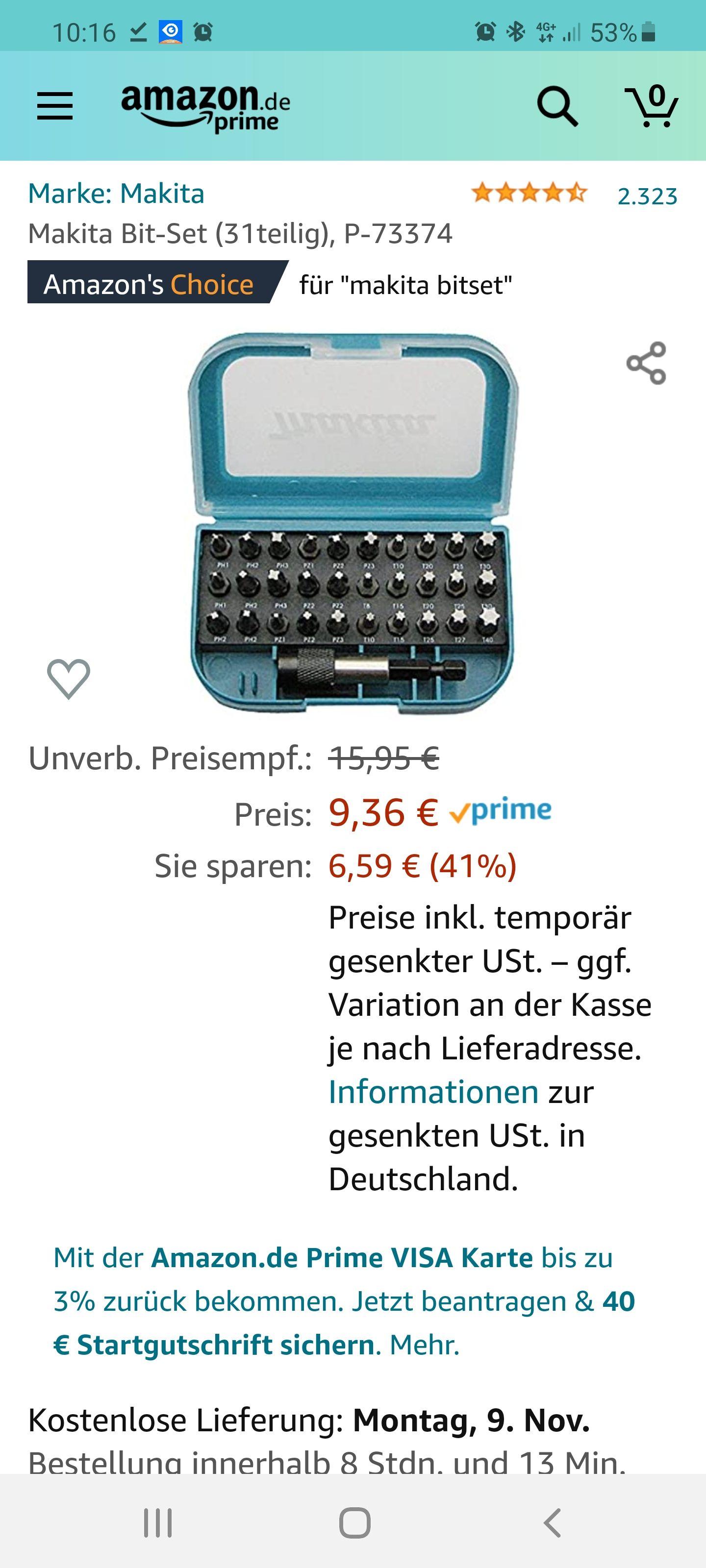 Makita Bitset 31-teilig P-73374 / Prime kostenloser Versand