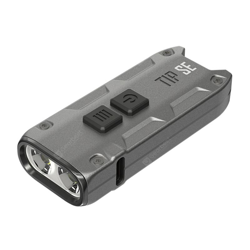 Nitecore TIP SE Schlüsselbundlampe (4 Stufen: 1/30/180/700 Lumen, USB-C, Alugehäuse, IP54)