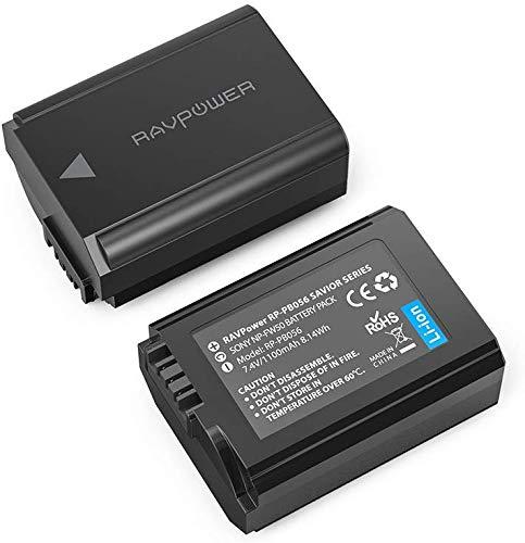 [AMZ Prime Blitzangebot] RAVPower NP FW50 2 Pack 1100mAh Kamera Akku für Sony