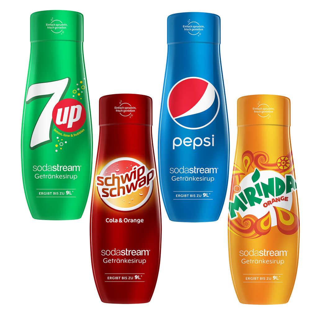 SodaStream Sirup 440ml Pepsi, 7up, Schwip-Schwap, Mirinda, Mountain Dew ab 12.11. für nur 3,42€ [Kaufland]