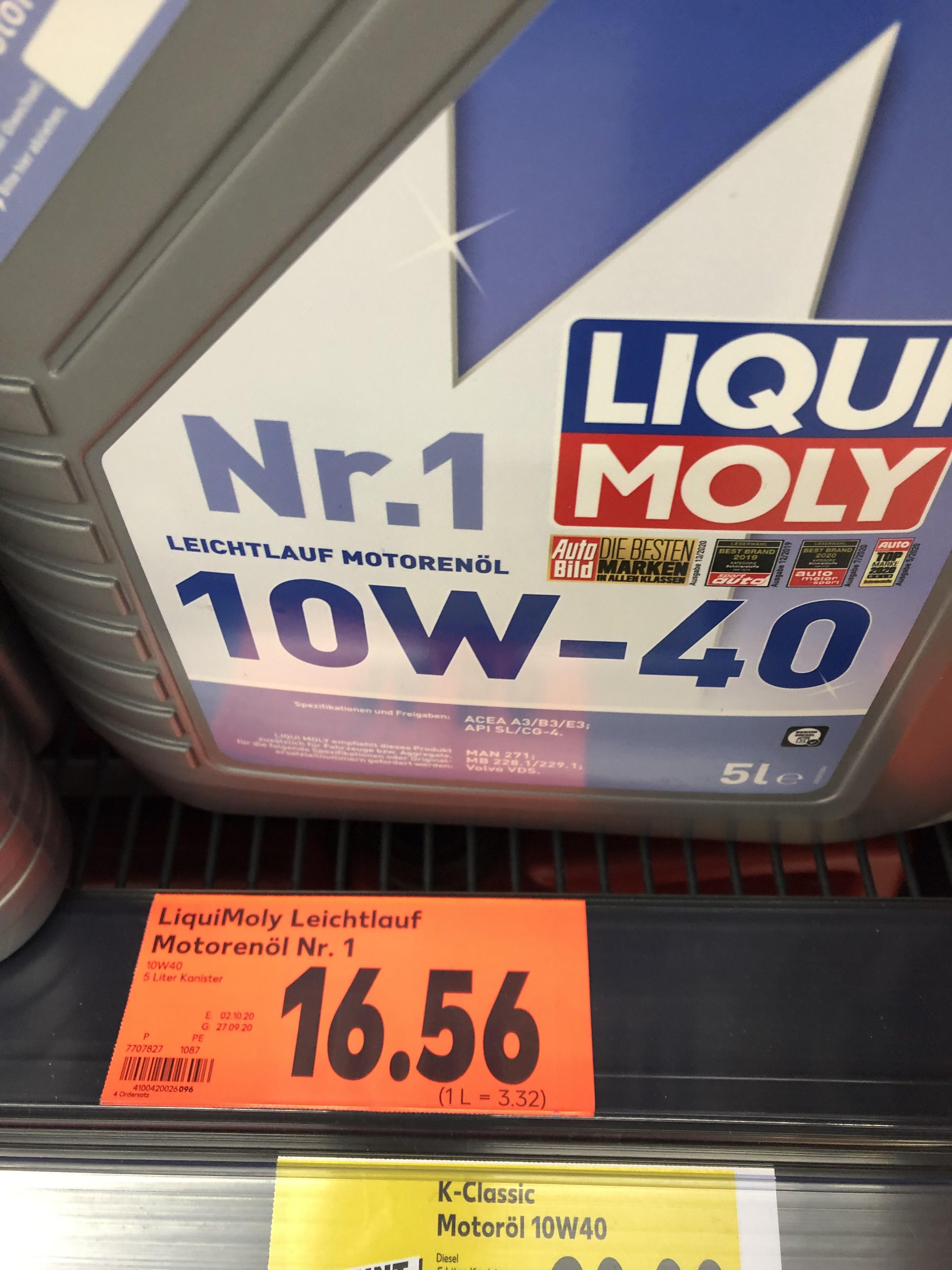liqui moly 10w40 , Kaufland Berlin-Buch