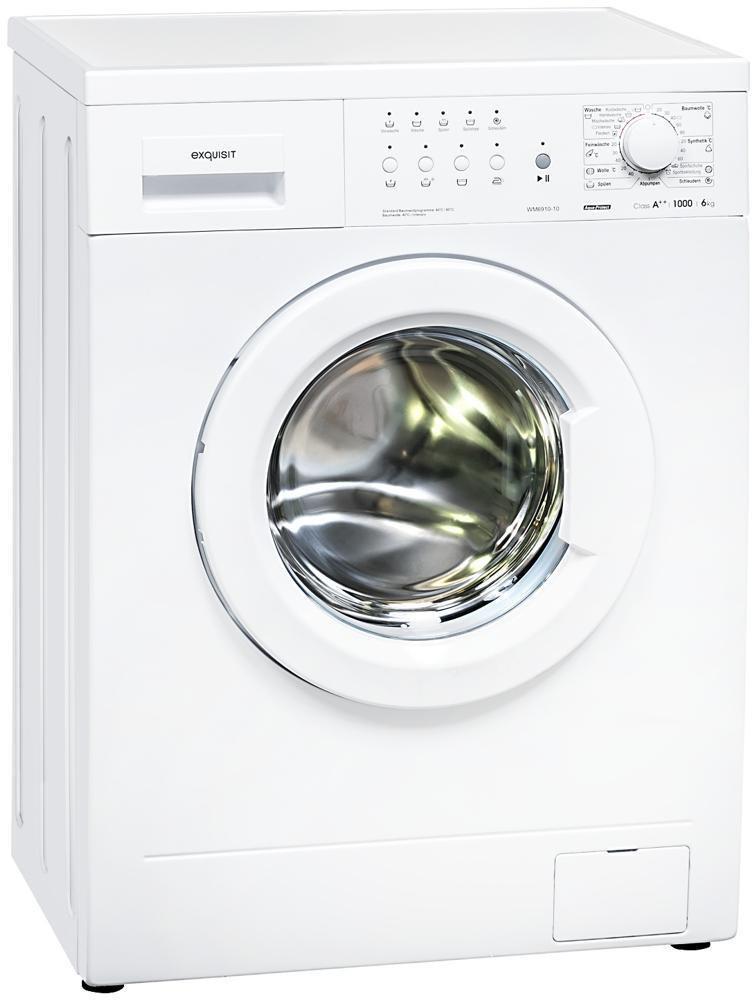 [Norma24] Exquisit WM 6910-10 6kg A++ Waschmaschine, 1000 U/min, Flecken-Programm, LED-Anzeige