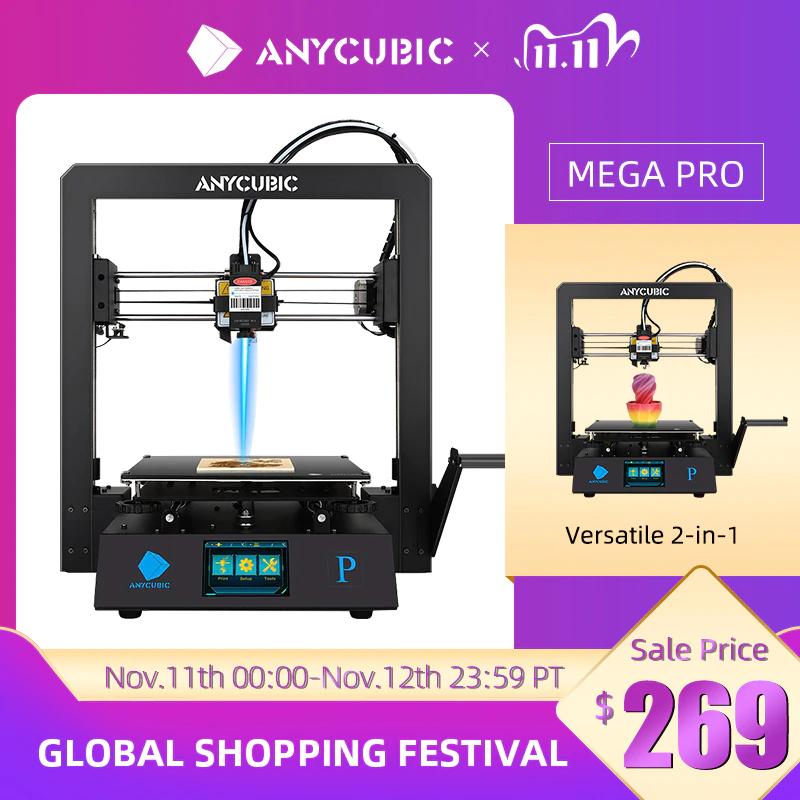 Anycubic Mega Pro 2-in-1 3D-Drucker und Lasergravur für 245,22€