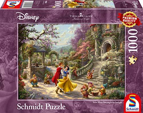[Amazon Prime] Schmidt Spiele 59625 Thomas Kinkade, Disney, Schneewittchen-Tanz mit dem Prinzen, 1000 Teile Puzzle