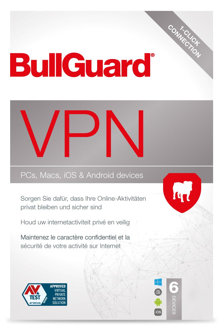 BullGuard VPN 6 User 1 Monat mit Gutschein 6,93 Euro