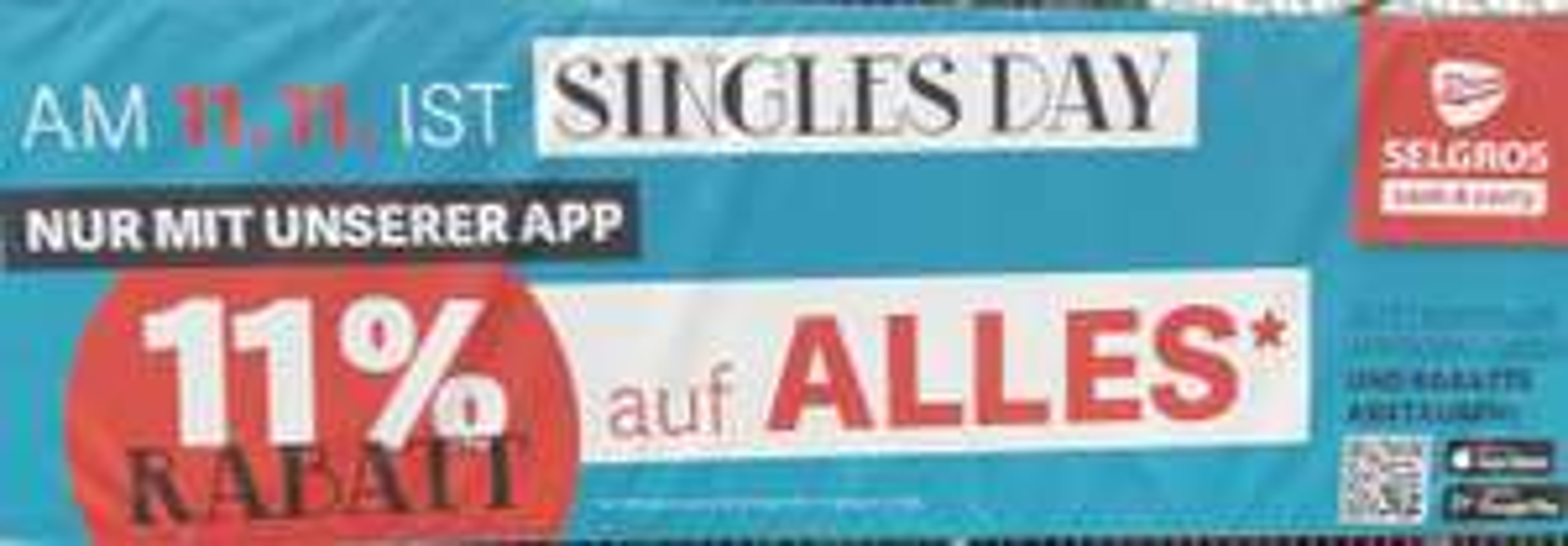 Selgros 11% Rabatt auf alles nur mit der App