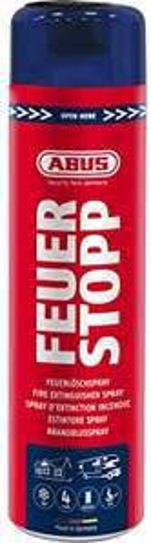 Prime / ABUS Feuerlöschspray AFS625 Feuerstopp - Feuerlöscher für Küche, Grill und Haushalt - hohe Sprühweite - Brandklassen A-B-F rot