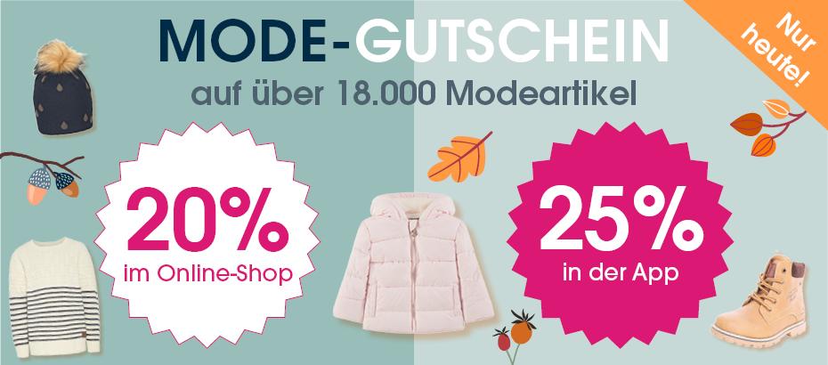 20% auf über 18.000 Modeartikel bei Babymarkt (25% per App): zB Steiff Boys Stramplerset 2-tlg. Nicky, quarry für 21,59€ statt 35,99€