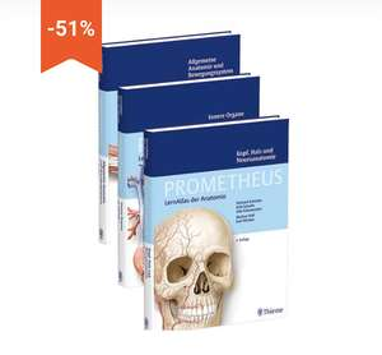 Prometheus Anatomie 4.Auflage 3er-Pack