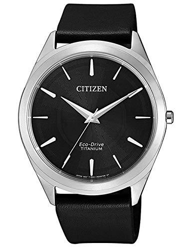 Citizen Eco-Drive Quarz Uhr BJ6520-15E (Titan, Saphirglas, 41mm)