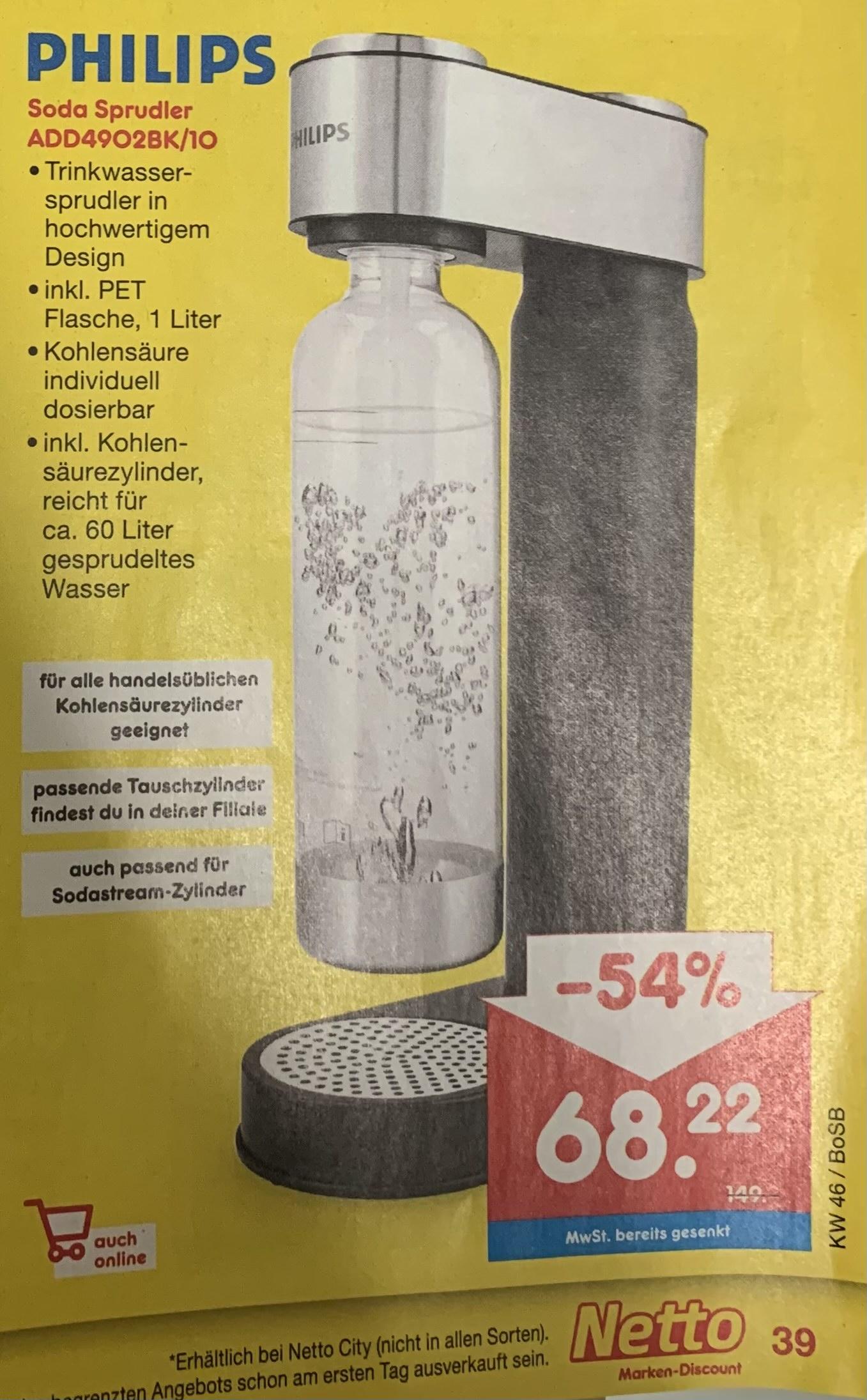 Philips Wassersprudler / Soda Zubereiter