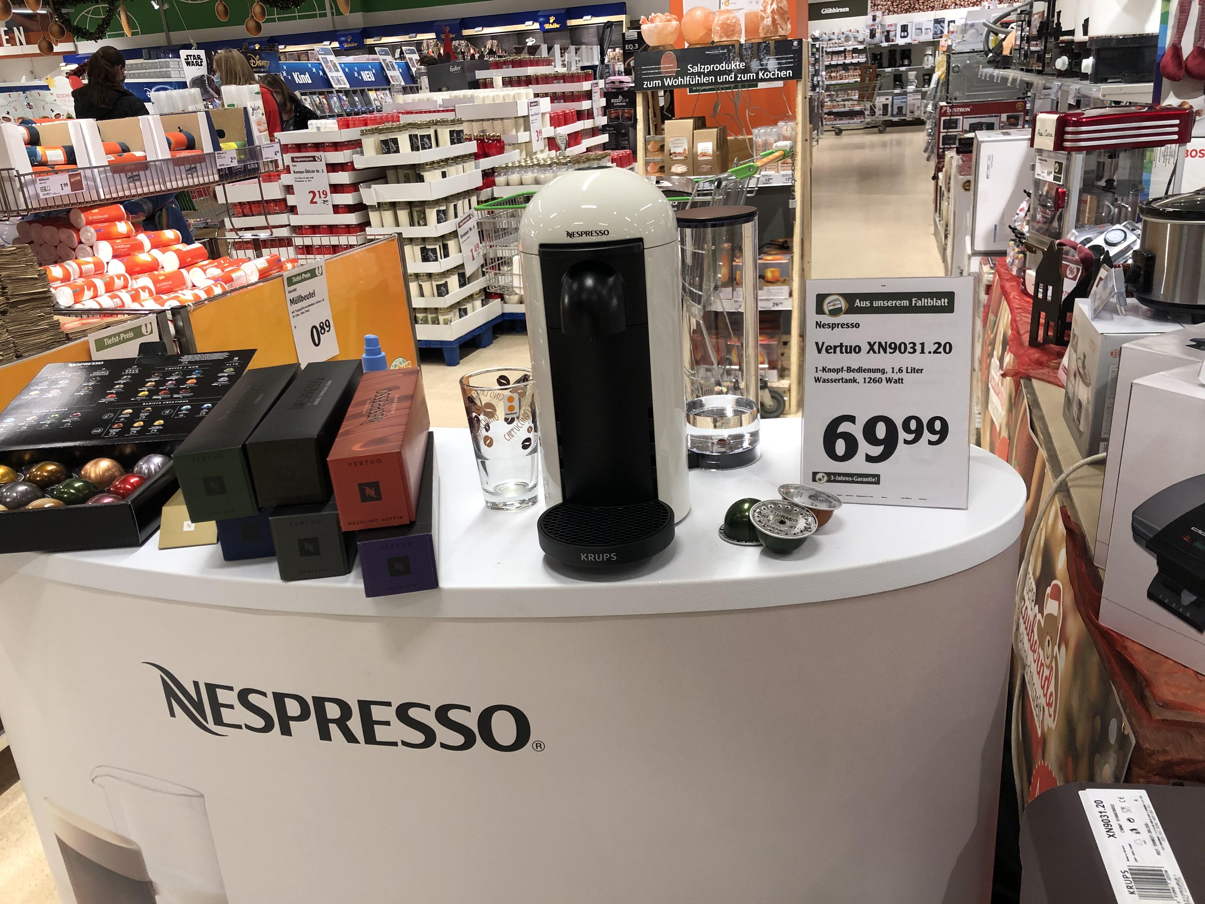 Nespresso Vertuo Plus in weiss inkl. 3 Jahre Garantie [LOKAL: Zell/Mosel]