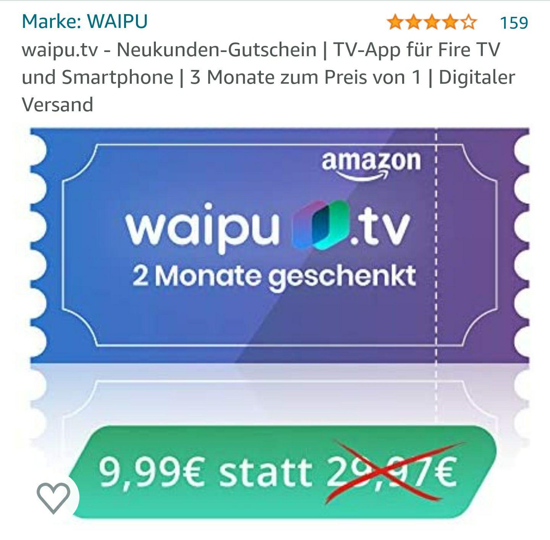 Waipu.tv 3 Monate perfect zum Preis von einem *Neukunden *