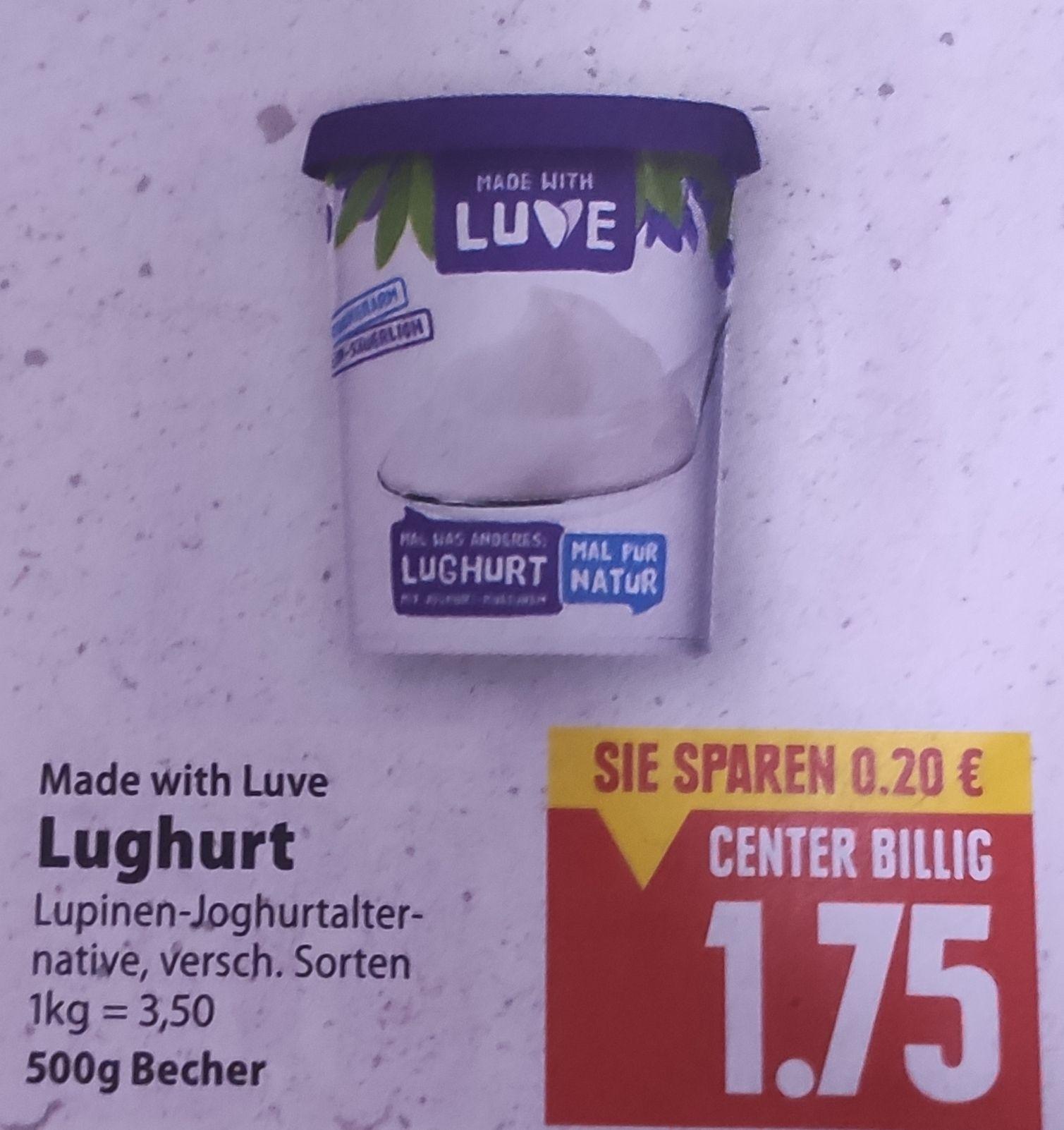 [Edeka Center Minden-Hannover] LUVE Lughurt vegan 500g mit Coupon für 1,25€