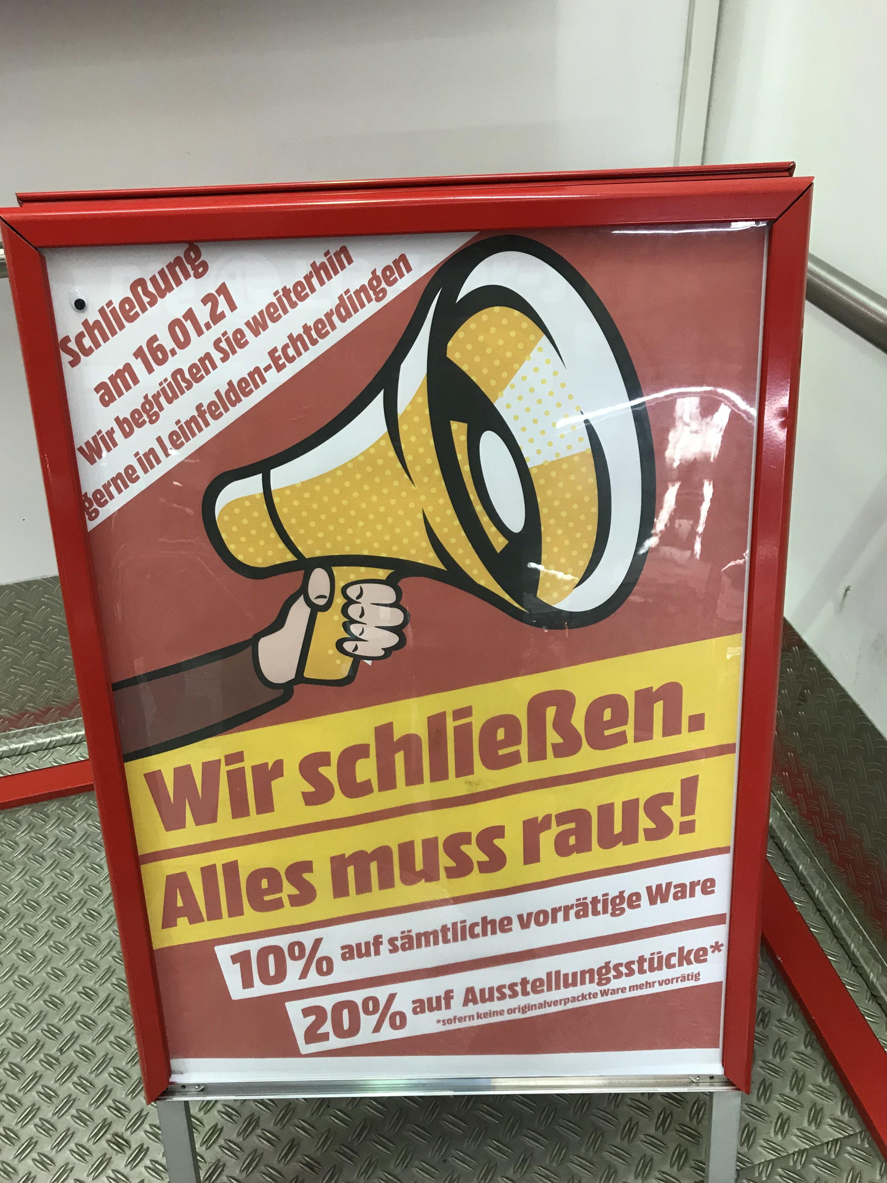 Mediamarkt (lokal Stuttgart Vaihingen) 10% auf alles