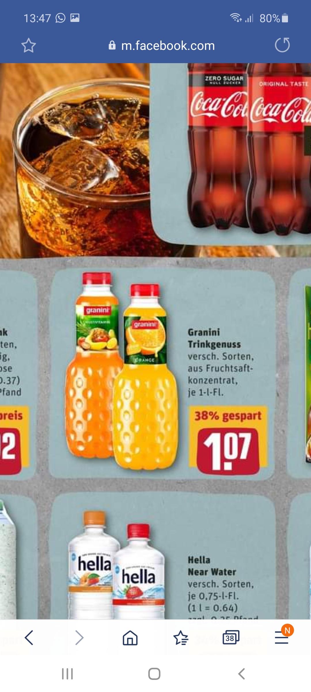 Granini Saft 1l mit Payback für 0,57€ -personalisiert- oder 0,75 l Granini Sensation mit Payback, Scondoo und Coupies mit Gewinn!