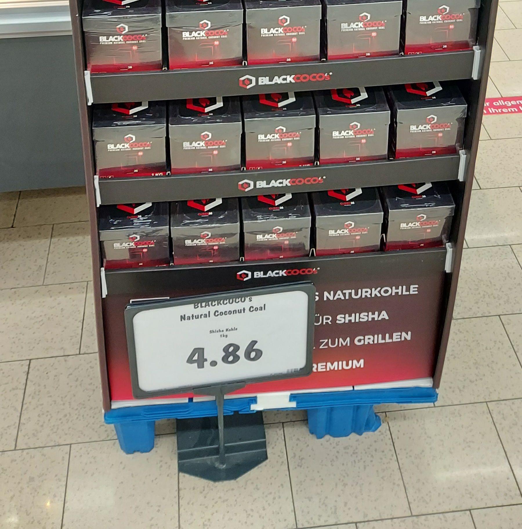 ( Kaufland Regensburg ) 1KG Blackcoco's Kokosnuss Naturkohle Premium für Shisha und BBQ