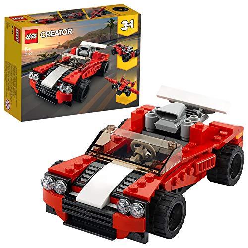 Prime) LEGO 31100 Creator 3-in-1 Sportwagen-, Hot Rod-, Flieger-Bauset, Spielzeuge für Kinder ab 7 Jahren für Jungen und Mädchen
