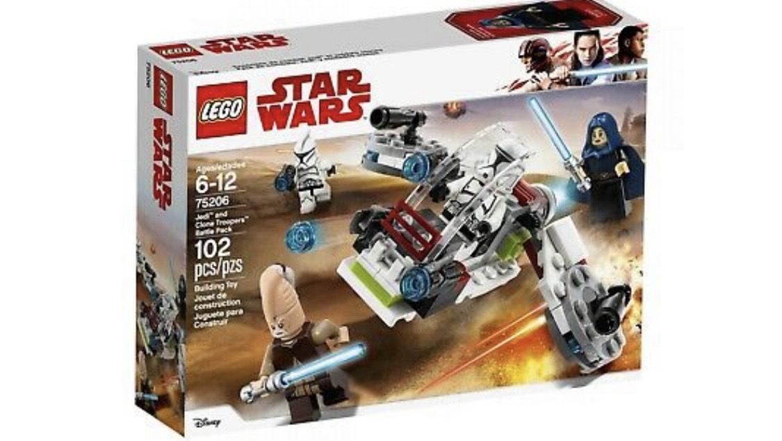 LEGO Star Wars 75206 Jedi und Clone Troopers Battle Pack Neu und OVP