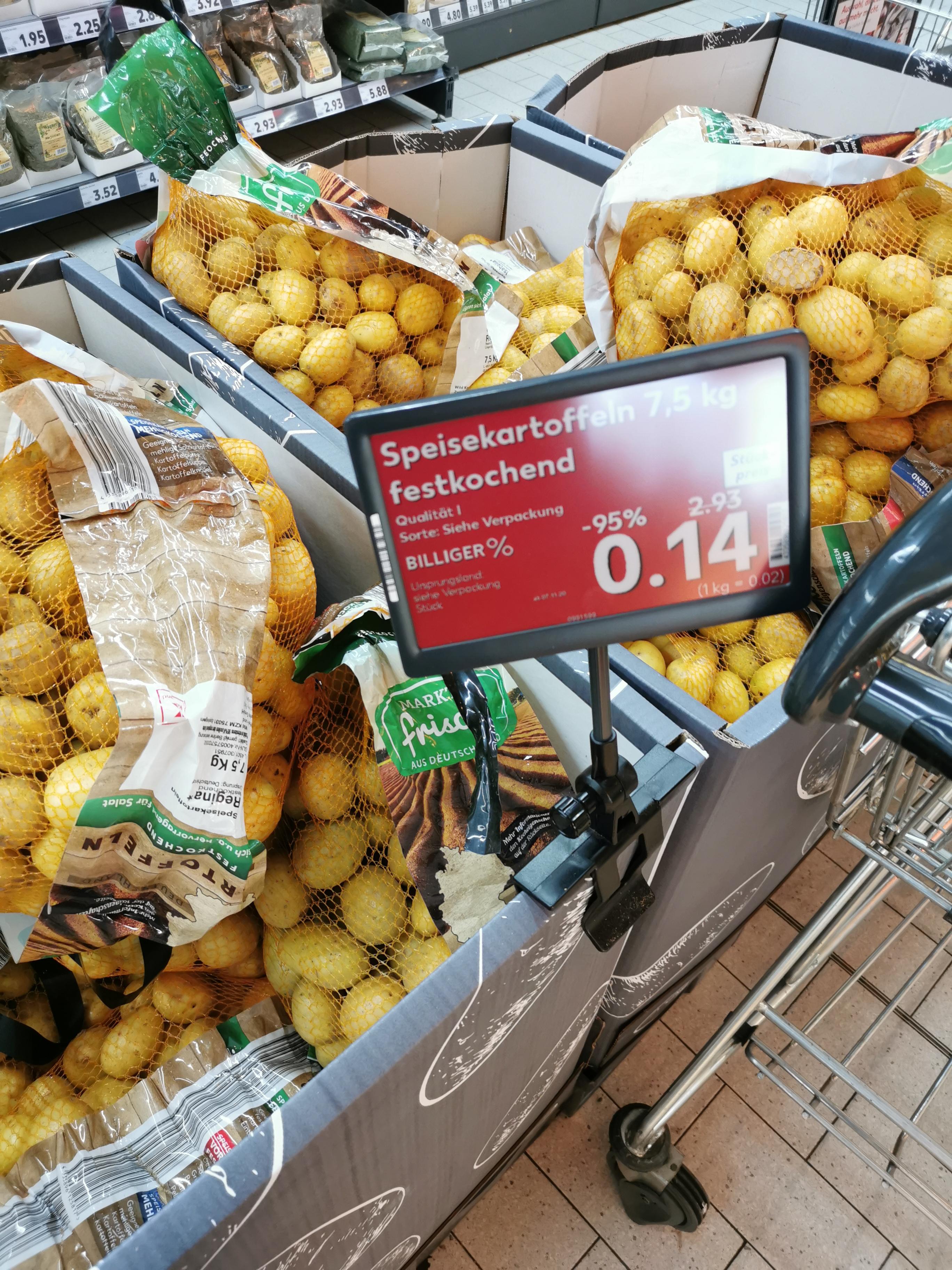 [LOKAL KAUFLAND Ludwigsburg Friedrichstraße] 7,5KG festkochende Kartoffeln für 14 Cent