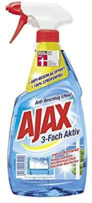 4x Ajax 3-Fach Aktiv Glasreiniger, 500 ml(0,64€ pro), durch 5er Sparabo 2,59€ möglich oder einzeln für 0,92€ - Prime*Sparabo*