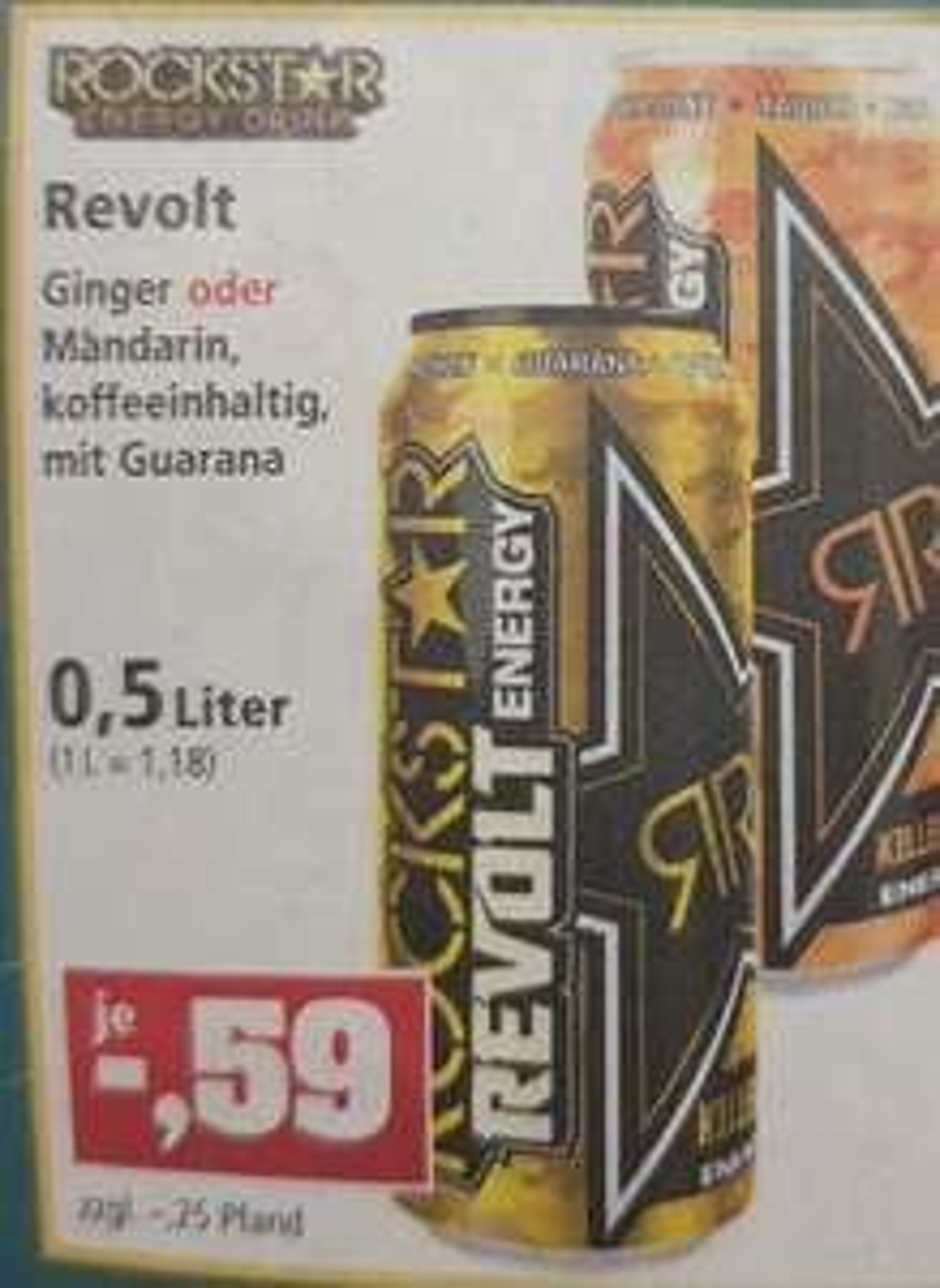 [ Thomas Philipps] Rockstar Energy 0,5l Revolt Ginger oder Mandarin nur 0,59€