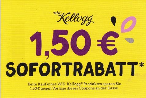 1,50€ Sofort-Rabatt für W.K. Kellogg Produkte - gültig bis 31.12.2020